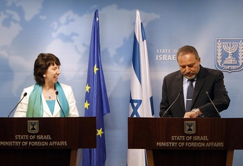 EU Foreign Policy chief Catherine Ashton and sraeli Foreign Minister Avigdor Liberman