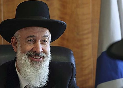 Israel's Chief Rabbi Yona Metzger