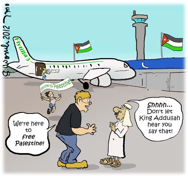 Flytilla Jordan is Palestine