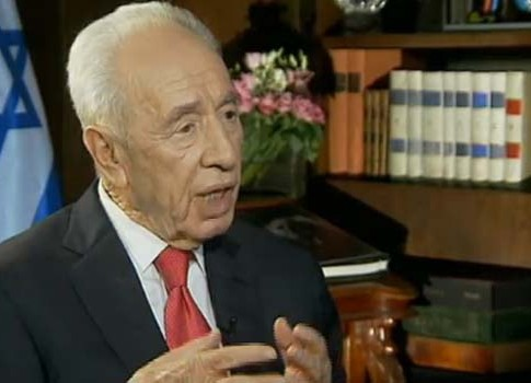 President Shimon Peres on Israel's Channel 2 News Thursday