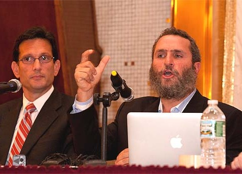 House Majority Leader Eric Cantor and Rabbi Shmuley Boteach.
