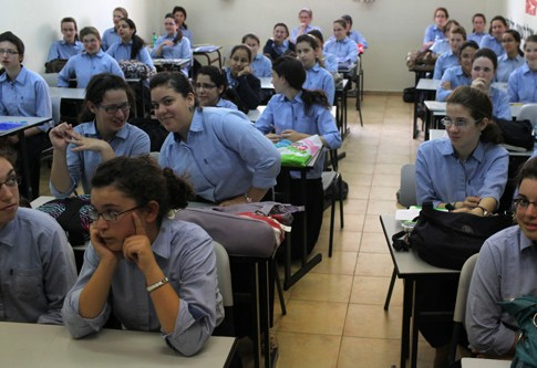 Students of Beit Yaakov Elisheva in Jerusalem.
