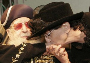 Adina Bar Shalom with her late father, Shas spiritual leader Rabbi Ovadia Yosef.