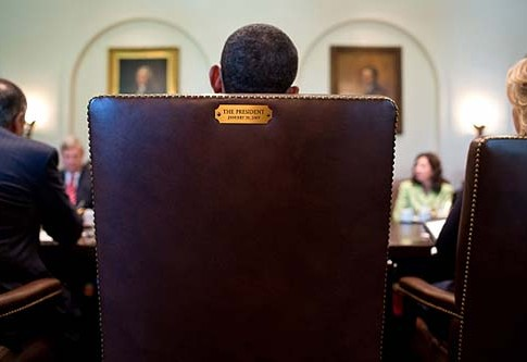 President Barack Obama holds a Cabinet meeting in the Cabinet Room of the White House, July 26, 2012.