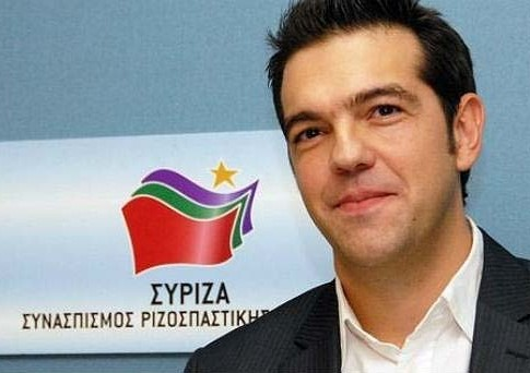Alexis Tsipras, leader of the Greek left wing coalition SYRIZA.