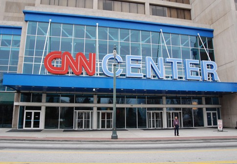 The CNN Center in Atlanta. Are Americans stupid or are the media only giving them half the information they need?