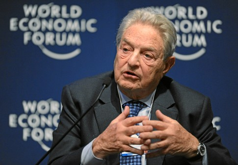 Billionaire leftist philanthropist George Soros at the World Economic Forum in Davos, Switzerland, January 27, 2011.