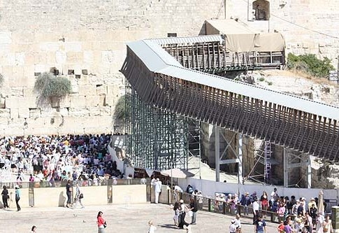 For eight years, the bridge leading up to Temple Mount was in danger of collapsing.