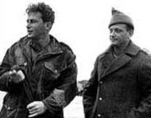 Yitzhak Rabin (L.) and Yigal Alon in 1949