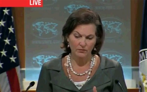 State Department spokesperson Victoria Nuland, confirming that Egypt is an American ally.