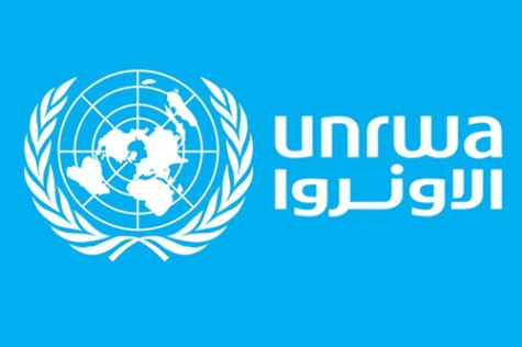 Logo of the United Nations Relief Works Agency for Palestinian Refugees in the Near East.