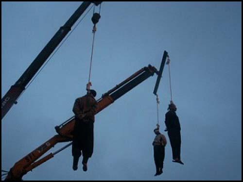 Hamas public hanging.