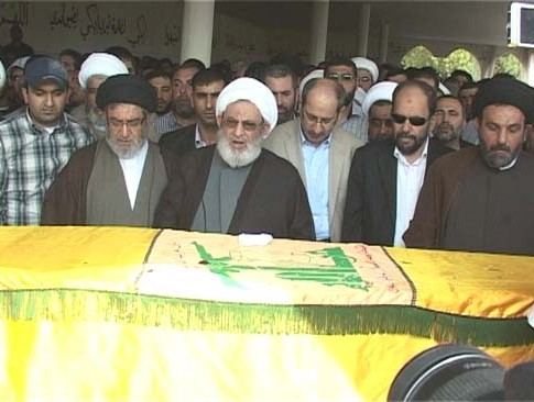 Hizbollah and local dignitaries attended Ali Hussain Nasif's funeral Tuesday.