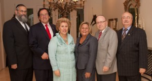(L-R) Dr. Irving Lebovics, Dr. Morry Waksberg, Sarita Spiwak, Congresswoman Ros-Lehtinen, Stanley Treitel and event chair Commissioner Howard Winkler attending the event for the congresswoman.
