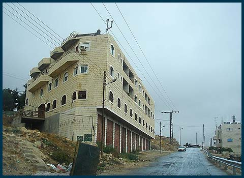 "The Brown House, aka ""Beit HaShalom"" aka ""Beit HaMeriva"" in Hebron."