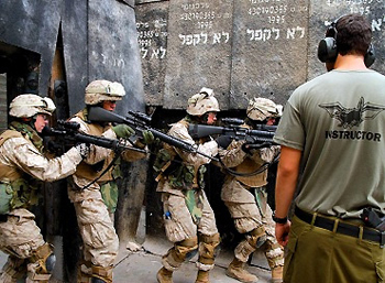 U.S. soldiers participating in the Austere Challenge 12 drill in Israel.