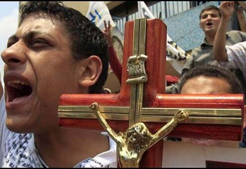 Christian protesters in the Sinai.