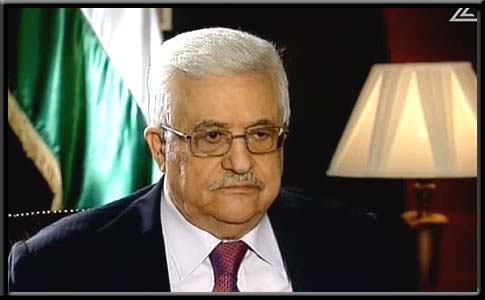 PA President Mahmoud Abbas speaking to Channel 2 TV.