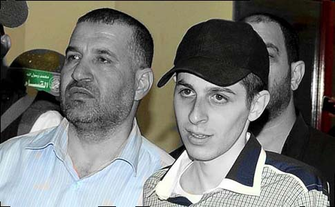 Ahmed Jabari and his prize possession, Gilad Shalit