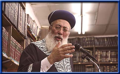 Israeli Sephardi Chief Rabbi Shlomo Amar.