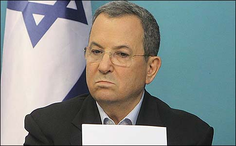 Israel's Defense Minister Ehud Barak at a press conference at the PM's office in Jerusalem, announcing a ceasefire. November 21, 2012.