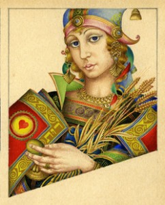 Ruth, Queen of Hearts by Arthur Szyk Heroes of Ancient Israel: Playing Card Art published by Historicana