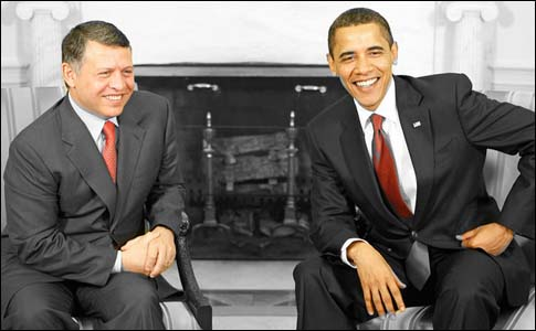 President Obama hosting Jordan's King Abdullah.
