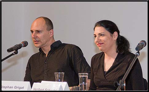 Stephan Grigat and Simone Dinah Hartmann of Stop the Bomb