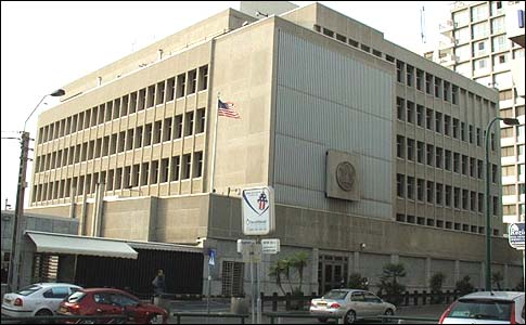 US embassy in tel Aviv.