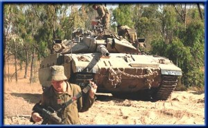 IDF tanks shot artillery fire at terror targets in central Gaza, near sites of Jewish communities that were destroyed in the expulsion in 2005.