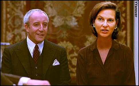State Dept. Spokesperson Victoria Nuland with Chauncey Gardner, played by Peter Sellers