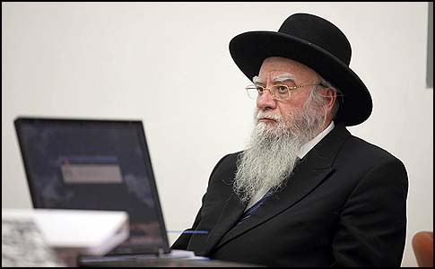 Former Chief Rabbi ELiyahu Bakshi Doron in court.