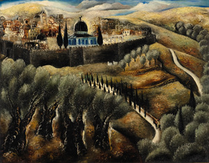 Jerusalem Seen from Mount Scopus, oil on canvas by Reuven Rubin