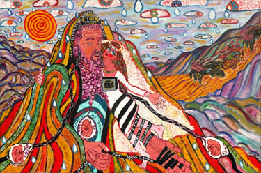"The Bride of Hoseashtein: Betrothal and Exile (2007) (24"" x 36""), oil on canvas by Nahum HaLevi