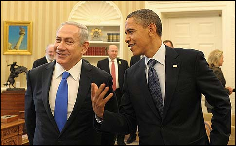 Prime Minister Netanyahu and President Obama in the White House, March 5, 2012.