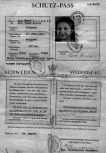 Schutzpass issued on August 24, 1944, saving the life of Irene Hirsch.