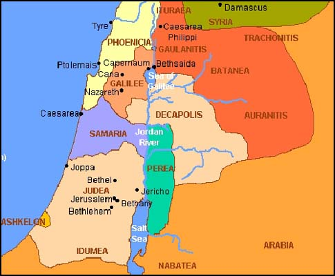 A Map of Eretz Israel during the Roman Empire