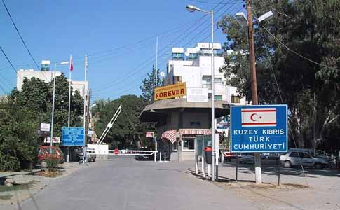 A border crossing between the Republic of Cyprus and the Turkish Republic of Northern Cyprus.
