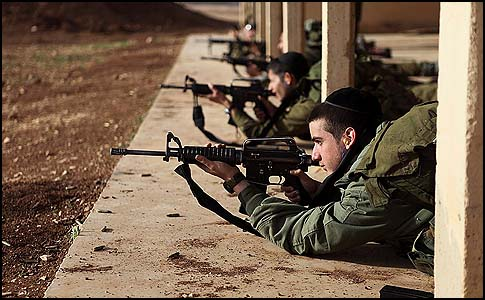 An IDF exclusively Haredi infantry unit training at a range.