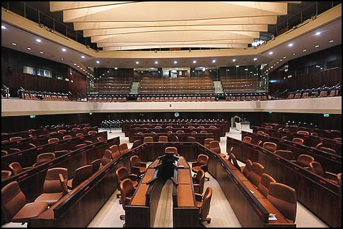 The Knesset plenum.