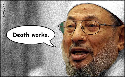 "Yusuf al-Qaradawi, head of the Muslim Brotherhood, said on Egyptian television, ""If they [Muslims] had gotten rid of the punishment [often death] for apostasy, Islam would not exist today."""