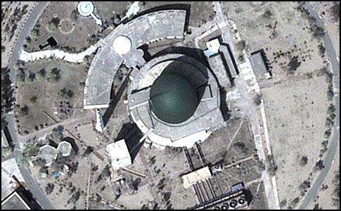 Pakistan's Khushab plutonium production reactor.
