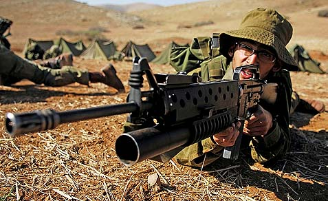 A Haredi soldier in training.