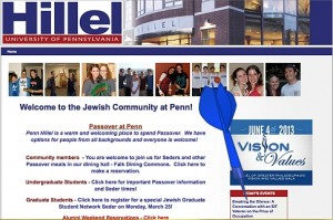 "Penn Hillel's Passover Greetings and events include Breaking the Silence, ""The Price of Occupation"""