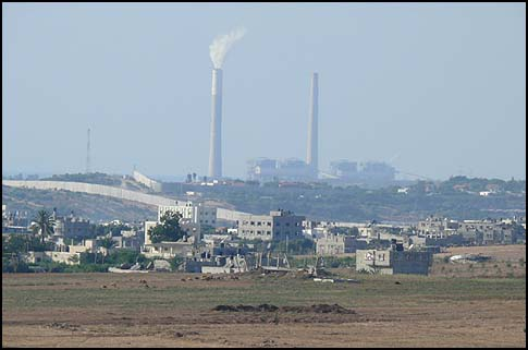 The Rutenberg power plant, near Ashkelon, Israel.