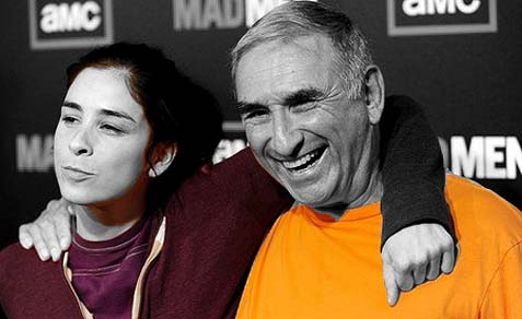 Sarah Silverman with her father, a Jewish Press online reader.