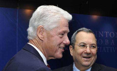 Lobbyist Bill Clinton and Israeli lobbyist Ehud Barak