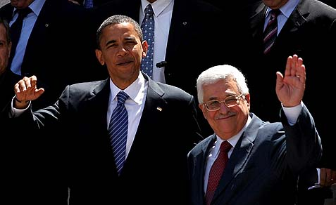 Obama and Abbas in Ramallah