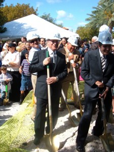 Young Israel of Bal Harbour's festive groundbreaking ceremony.