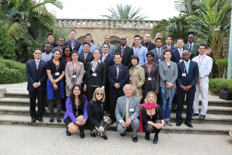 Group picture of participants and organizers at Rambam Hospital.